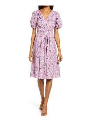 French Connection flores puff sleeve dress
