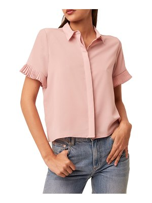 French Connection frill sleeve crepe button-up shirt