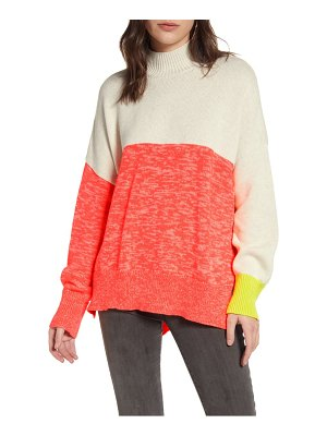 French Connection joelle colorblock cotton blend sweater