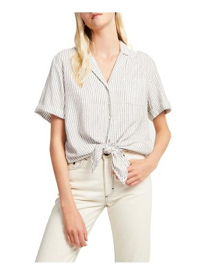 French Connection laiche tie front button-up shirt