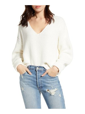 French Connection millie mozart rib v-neck sweater
