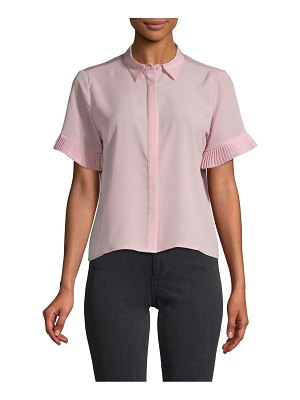 French Connection Pleated Short-Sleeve Shirt
