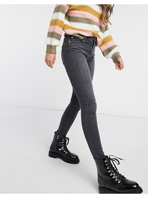 French Connection rebound skinny jeans in charcoal-black