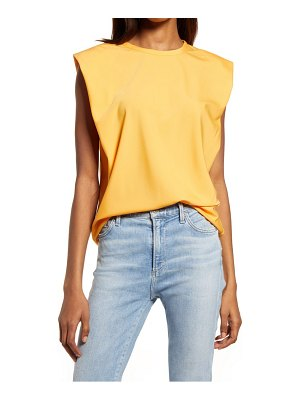 French Connection shoulder pad crepe tank