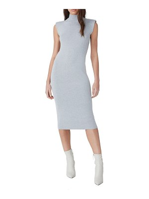 French Connection shoulder pad sleeveless sweater dress