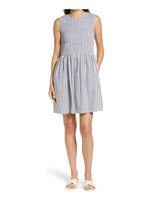 French Connection stripe smocked dress