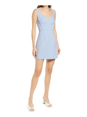 French Connection whisper sleeveless fit & flare dress
