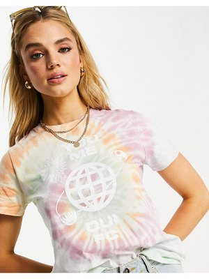French Connection you me tie dye cropped tshirt-multi