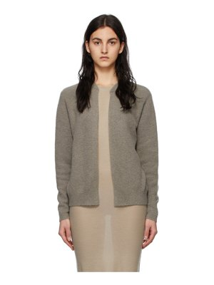 Frenckenberger taupe dj hell edition cashmere bomber cardigan