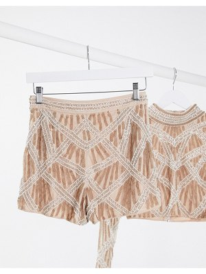 Frock and Frill club highwaisted embellished short two-piece-gold