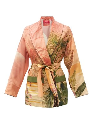 F.R.S - FOR RESTLESS SLEEPERS agnizione palm-print silk-satin jacket