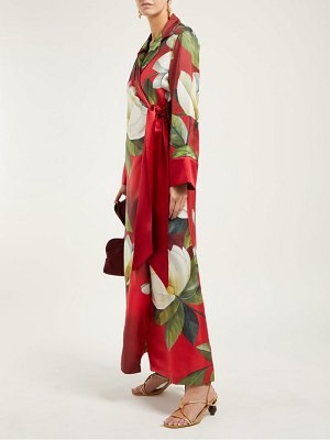 F.R.S - FOR RESTLESS SLEEPERS alectrona floral print silk satin wrap dress