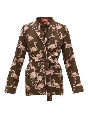 F.R.S - FOR RESTLESS SLEEPERS armonia flamingo fil-coupé belted jacket