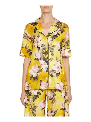 F.R.S For Restless Sleepers Bendis Caotine Plumeria Print Blouse