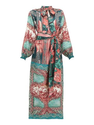 F.R.S - FOR RESTLESS SLEEPERS brizio pussy-bow printed-silk maxi dress