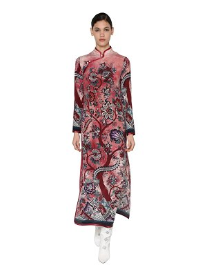 f.r.s. for restless sleepers Crespo long printed silk dress