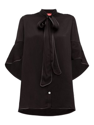 F.R.S - FOR RESTLESS SLEEPERS diana pussy-bow hammered-satin blouse
