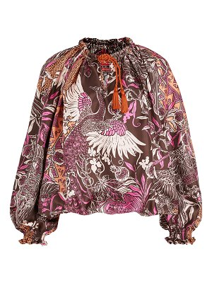 F.R.S For Restless Sleepers eleno paradise silk twill top