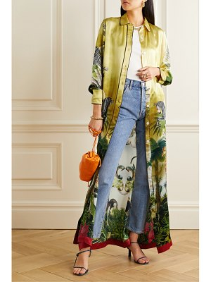 F.R.S For Restless Sleepers elpis belted printed hammered silk-satin maxi dress