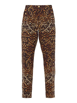 F.R.S - FOR RESTLESS SLEEPERS etere leopard-print silk-crepe trousers