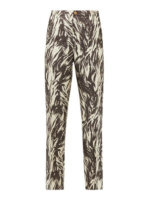 F.R.S - FOR RESTLESS SLEEPERS etere vii abstract-print silk-blend trousers