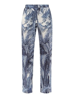F.R.S - FOR RESTLESS SLEEPERS etere vii jungle-print diamond-jacquard trousers