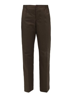 F.R.S - FOR RESTLESS SLEEPERS etere vii piped straight-leg cotton trousers