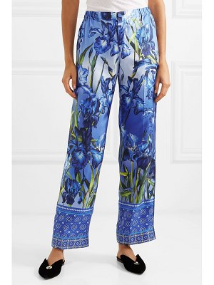 F.R.S For Restless Sleepers etrere printed silk-twill straight-leg pants