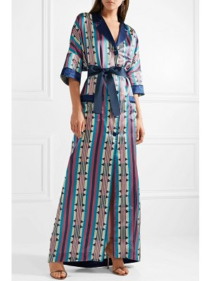 F.R.S For Restless Sleepers eurinome belted printed cotton and silk-blend maxi dress