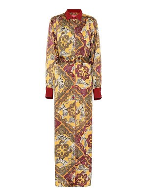 F.R.S For Restless Sleepers febo printed satin-cloqué shirt dress