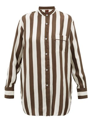 F.R.S - FOR RESTLESS SLEEPERS febo striped silk-twill shirt