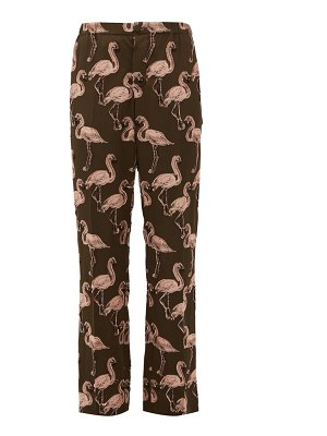 F.R.S - FOR RESTLESS SLEEPERS flamingo fil-coupé straight-leg trousers