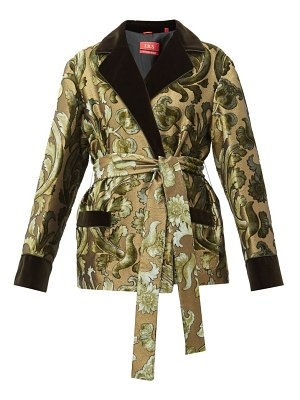 F.R.S - FOR RESTLESS SLEEPERS giocasta floral velvet-devoré wrap jacket