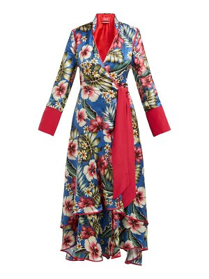 F.R.S - FOR RESTLESS SLEEPERS hydros floral print satin wrap dress