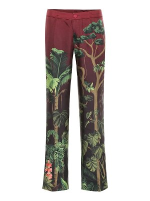 F.R.S For Restless Sleepers hypnos printed silk wide-leg pants