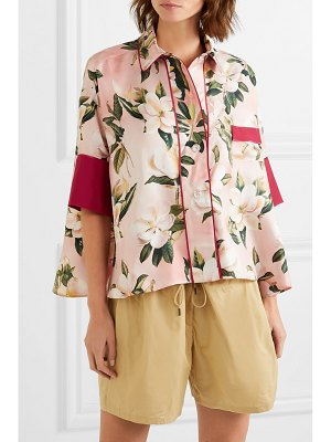 F.R.S For Restless Sleepers pistis floral-print silk-twill shirt