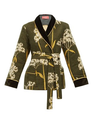 F.R.S - FOR RESTLESS SLEEPERS plutone velvet-trim floral-jacquard jacket