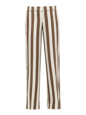 F.R.S - FOR RESTLESS SLEEPERS polibote striped silk wide-leg trousers