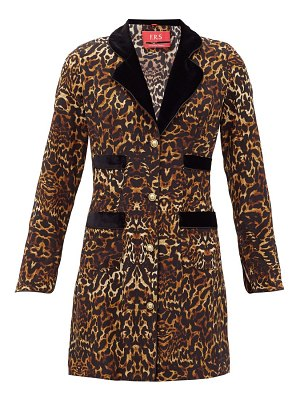 F.R.S - FOR RESTLESS SLEEPERS salus single-breasted leopard-print silk jacket
