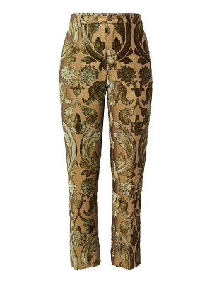 F.R.S - FOR RESTLESS SLEEPERS tartaro devoré velvet trousers