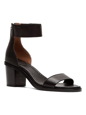 Frye Brielle Leather Zip-Cuff Sandals