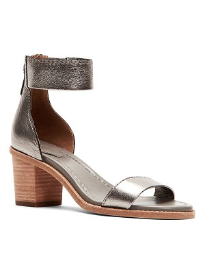 Frye Brielle Metallic Zip-Cuff Sandals