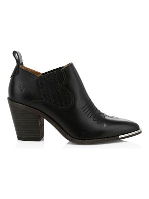 Frye faye stitched point toe leather ankle boots