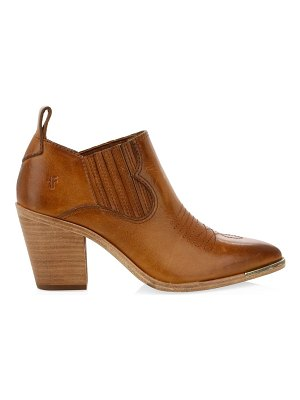 Frye faye stitched point toe suede ankle boots