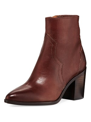 Frye Flynn Short Burnished Leather Western Boots