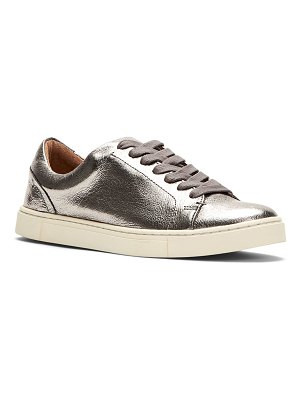 Frye Ivy Metallic Leather Court Sneakers