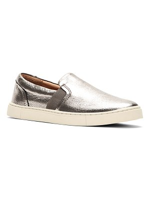 Frye Ivy Metallic Leather Slip-On Sneakers