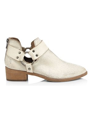 Frye ray harness distressed leather booties
