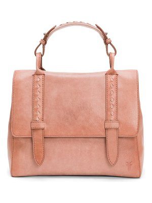 Frye reed flap satchel