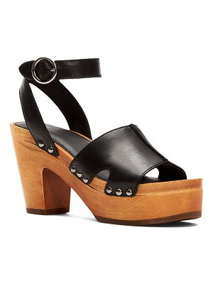 Frye Zelda Leather Clog Sandals